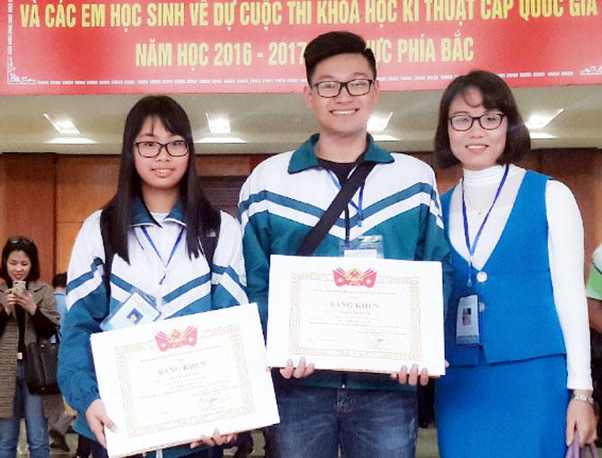 Giải Ba, quốc gia, khoa học, kỹ thuật, Trần Lâm Tùng, Hoàng Lan Anh