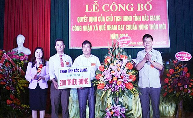 xã Quế Nham, Tân Yên, Đón bằng, công nhận, đạt chuẩn, nông thôn mới