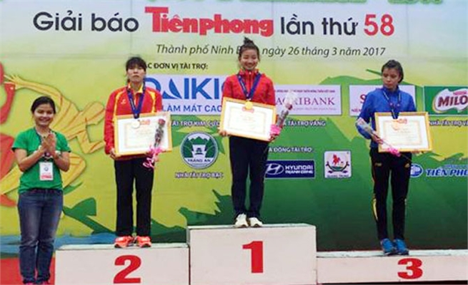 Bac Giang athletes achieve excellent performances in Tien Phong Marathon