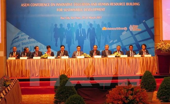 Bế mạc,Hội nghị, ASEM, giáo dục, sáng tạo, xây dựng, nhân lực