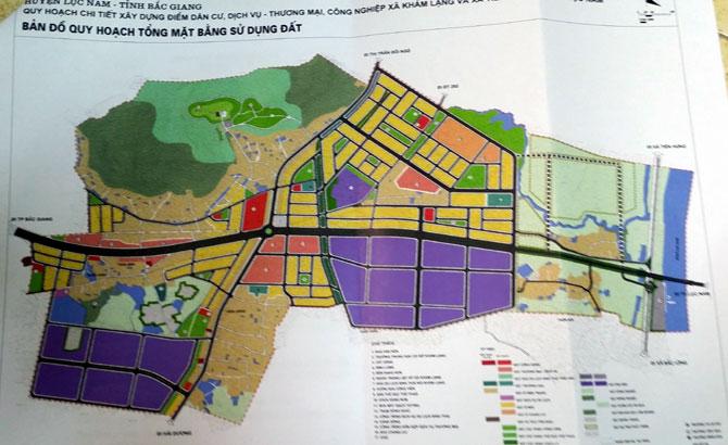 Công bố, quy hoạch, điểm dân cư, dịch vụ, thương mại, công nghiệp,  huyện Lục Nam