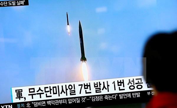 Nga, ngăn cản, HĐBA,  tuyên bố, lên án, vụ thử tên lửa, Triều Tiên