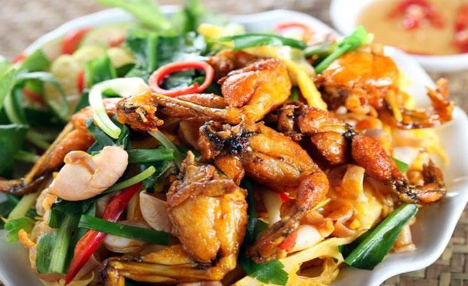 Thịt ếch, xào măng, thơm ngon, vị ngọt mát, bổ dưỡng