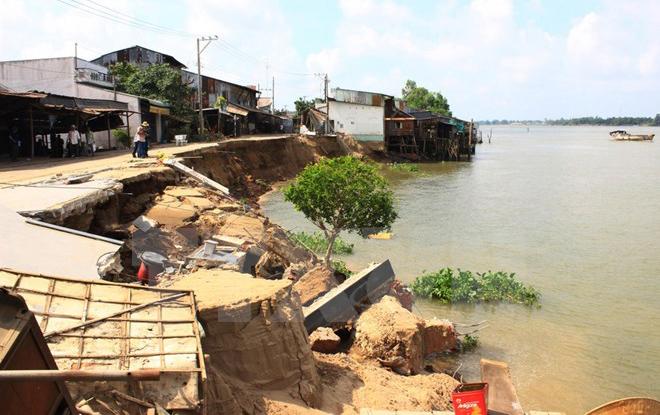 Thông tin mới về vụ sạt lở bờ sông làm sập 14 căn nhà ở An Giang