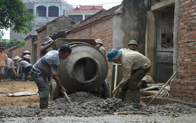 Hiệp Hòa: Đầu tư cho xã Quang Minh đạt chuẩn nông thôn mới