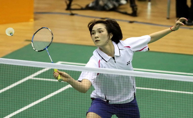 Trang enters second round of Asian badminton tourney