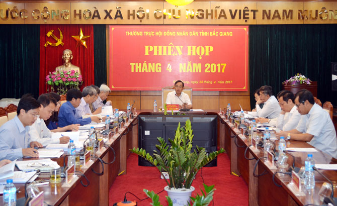 Thường trực HĐND tỉnh họp thường kỳ: Kiến nghị chấn chỉnh việc chấp hành pháp luật trong hoạt động thuê đất, thuê mặt nước ở TP Bắc Giang