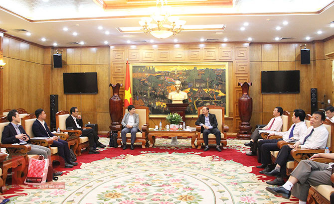 Chairman of Bac Giang People's Committee receives Japanese entrepreneurs