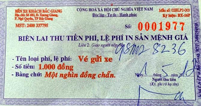 Giá dịch vụ,  giữ xe, quy định mới, Bắc Giang