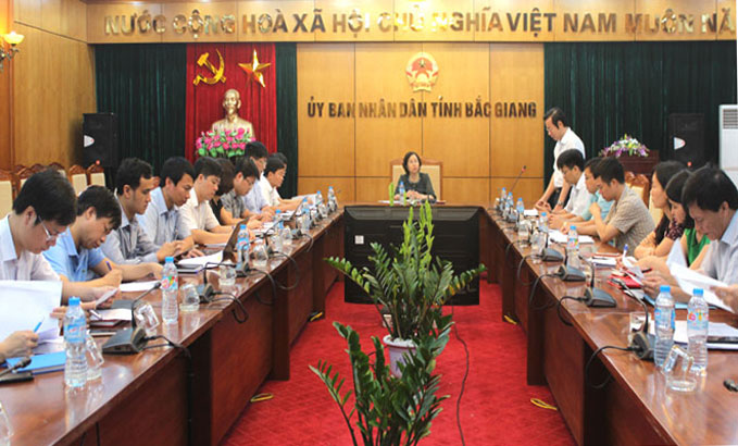 Bac Giang, communes, processing administrative procedures