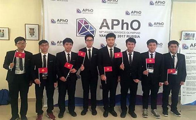 Học sinh, Việt Nam, giành huy chương vàng, Olympic vật lý, châu Á