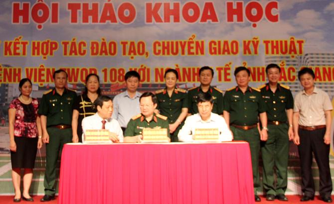 Sở Y tế Bắc Giang ký kết hợp tác với Bệnh viện Trung ương Quân đội 108.