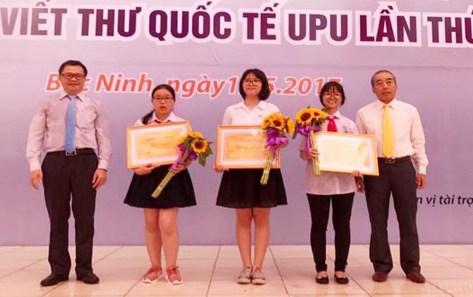 Trao giải, Cuộc thi Viết thư UPU quốc tế lần thứ 46, học sinh, Bắc Giang, giải nhì