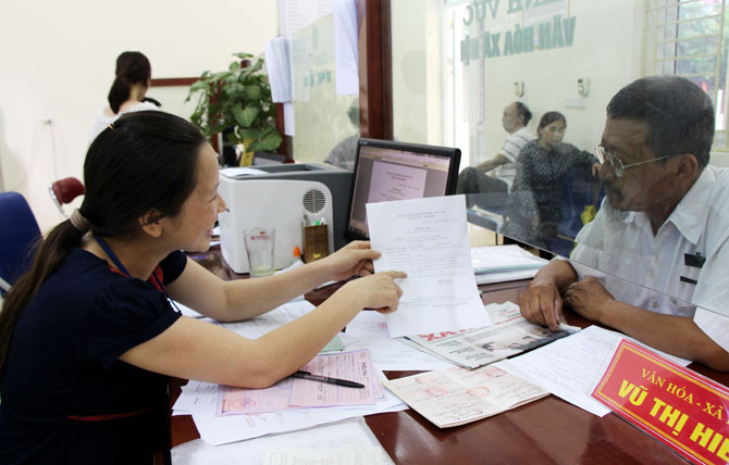 National contributors, administrative procedures, Bac Giang province