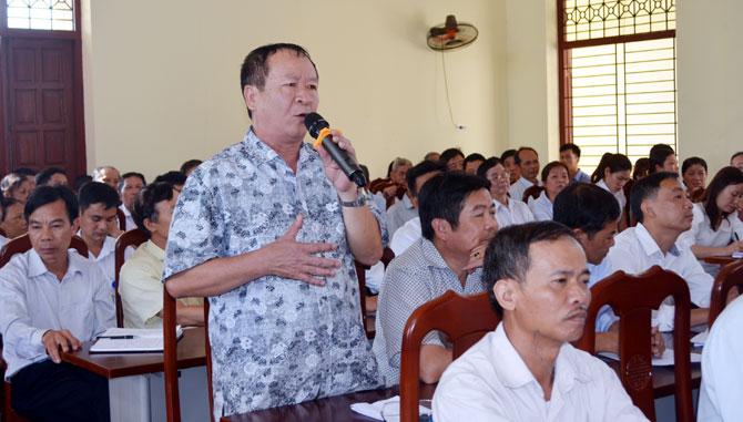 Đối thoại với cán bộ, nhân dân, Bí thư Thành ủy Bắc Giang Nguyễn Sỹ Nhận: Sâu sát cơ sở, giải quyết những vấn đề dân sinh thiết yếu