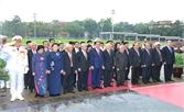 Lãnh đạo Đảng, Nhà nước, MTTQ Việt Nam vào Lăng viếng Chủ tịch Hồ Chí Minh