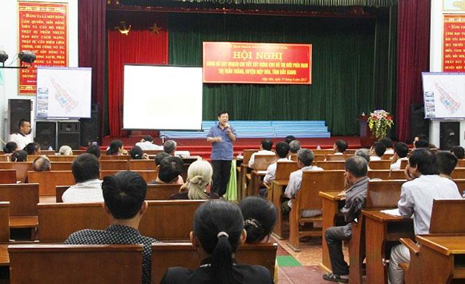 Hiệp Hòa công bố Quy hoạch chi tiết xây dựng Khu đô thị mới phía Nam thị trấn Thắng