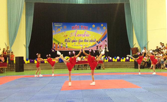 Lục Nam: Hội thi Aerobic bậc mầm non lần thứ nhất