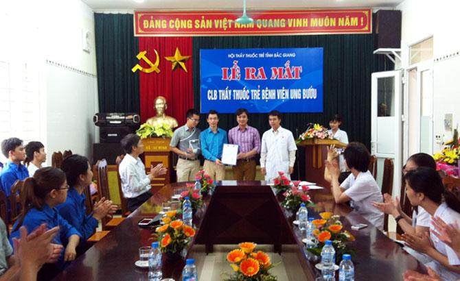 Ra mắt CLB Thầy thuốc trẻ Bệnh viện Ung bướu tỉnh Bắc Giang
