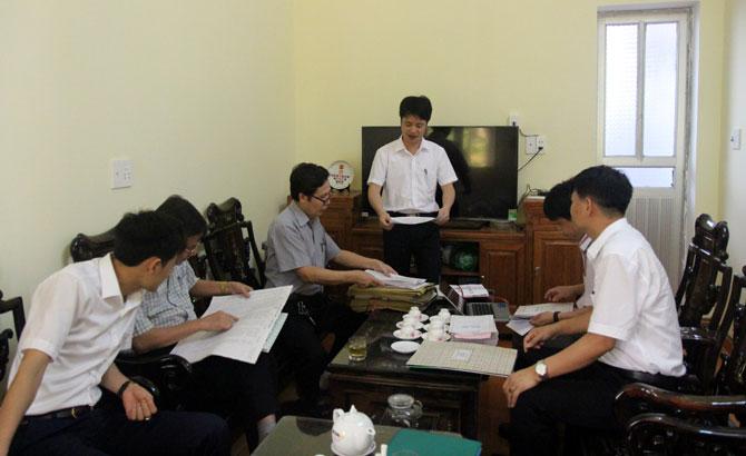 Kiểm tra công tác chuẩn bị  kỳ thi THPT quốc gia 2017