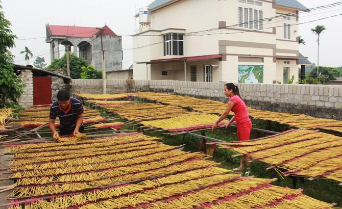 Xã Phúc Hòa (Tân Yên): Ra mắt tổ liên kết sản xuất hương