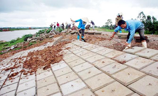 Lạng Giang: 1,5 tỷ đồng phòng chống bão lũ