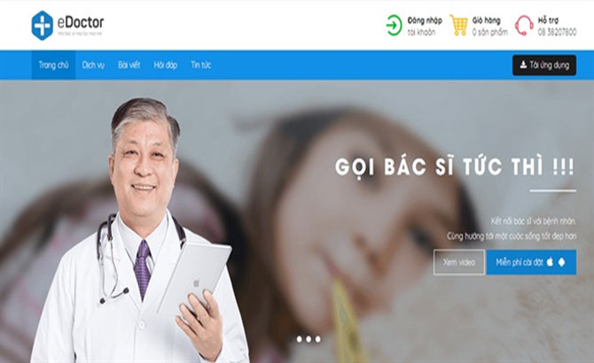 Vietnam tech, doctor consulting app, Google sponsor package