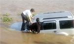 An Giang: Xe hơi tông chết nhân viên phà rồi lao xuống sông