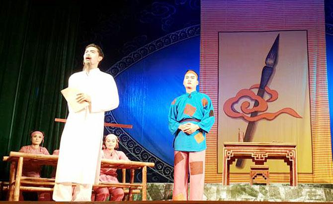 Nhà hát Chèo Bắc Giang ra mắt vở diễn mới