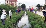 Hiệp Hòa triển khai chiến dịch cao điểm vệ sinh môi trường