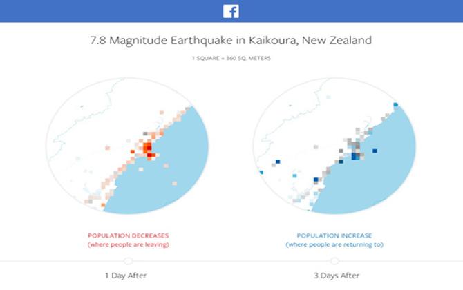 Facebook công bố bản đồ thảm họa hỗ trợ hoạt động cứu hộ