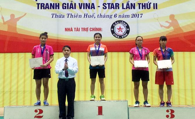 Cầu lông trẻ Bắc Giang xếp thứ Nhì toàn quốc