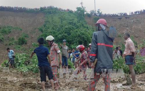 Số người thiệt mạng vì lở đất ở Bangladesh tăng lên gần 140 người