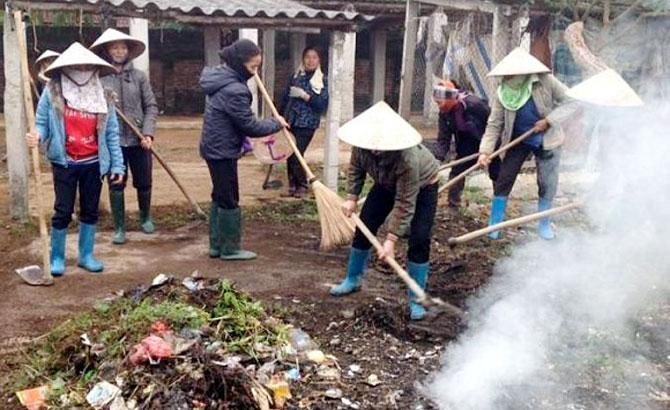Thành lập,  60 tổ vệ sinh,  môi trường