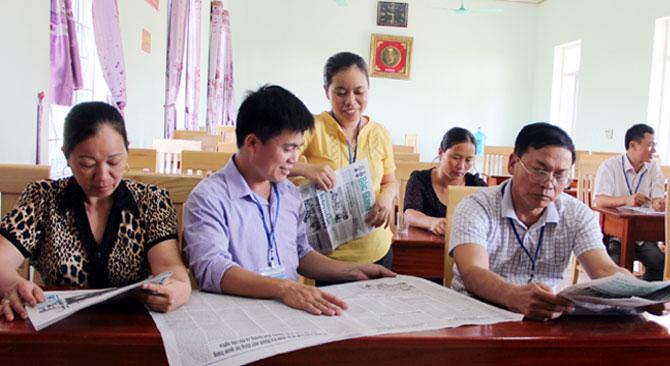 Duy trì, việc đọc, làm theo, báo Đảng, Quảng Minh