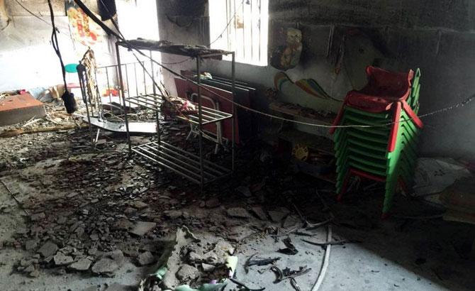 Cháy , trường mầm non, Liêm Xuyên, Song Khê, Bắc Giang