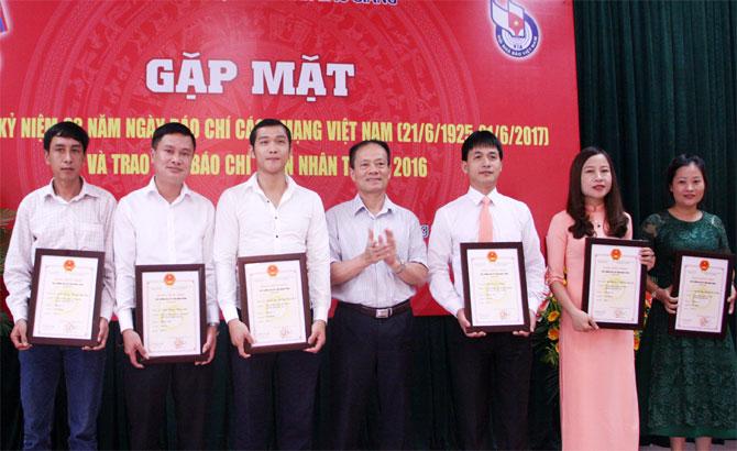Bắc Giang, kỷ niệm, Ngày Báo chí cách mạng Việt Nam, Giải Báo chí, Thân Nhân Trung