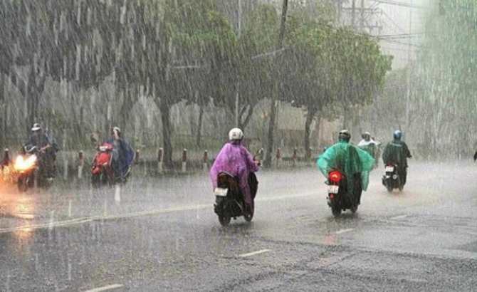 Bắc Bộ, đan xen, mưa, nắng, ngày đầu tuần, Nam Bộ, dịu nắng