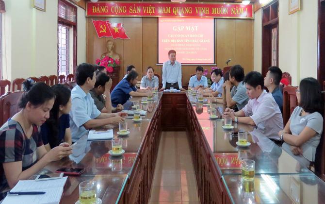 Ban Tuyên giáo Tỉnh ủy, gặp mặt, cơ quan, báo chí