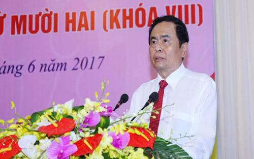 Ông Trần Thanh Mẫn thay ông Nguyễn Thiện Nhân làm Chủ tịch Ủy ban Trung ương MTTQ Việt Nam