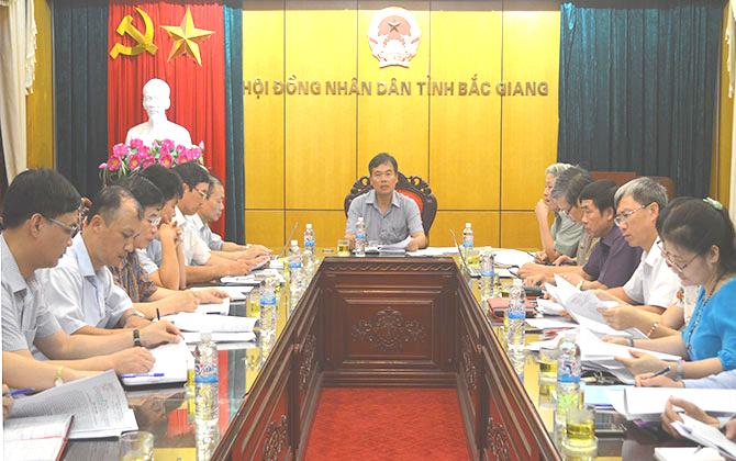 Thẩm định, thẩm tra một số nội dung trình kỳ họp thứ 3, HĐND tỉnh Bắc Giang khóa XVIII