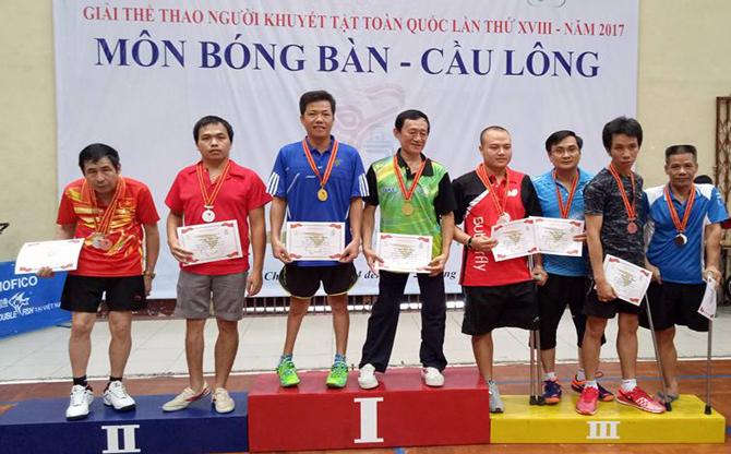 Bắc Giang đoạt 1HCB, 6HCĐ tại Giải thể thao người khuyết tật toàn quốc lần thứ XVIII