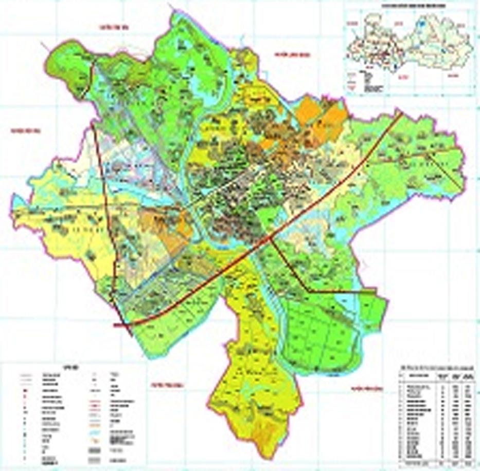 Bản đồ hành chính TP Bắc Giang