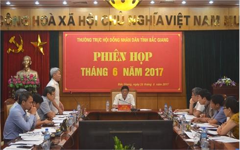 Thường trực HĐND tỉnh Bắc Giang cho ý kiến về một số nội dung trình kỳ họp thứ 3