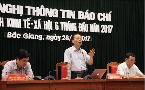 UBND tỉnh Bắc Giang họp báo về tình hình KT-XH 6 tháng đầu năm