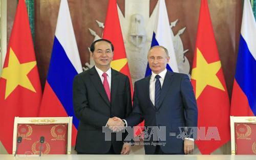 Chủ tịch nước Trần Đại Quang hội đàm với Tổng thống Nga Vladimir Putin
