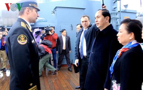Hoạt động của Chủ tịch nước Trần Đại Quang tại Saint Petersburg