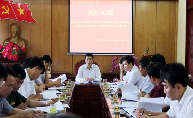 Ban Tuyên giáo Tỉnh ủy triển khai nhiệm vụ những tháng cuối năm