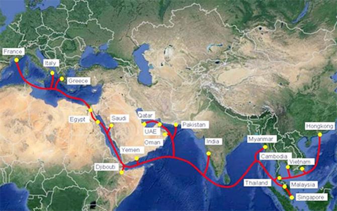Viettel chính thức khai thác hệ thống cáp quang biển AAE- 1