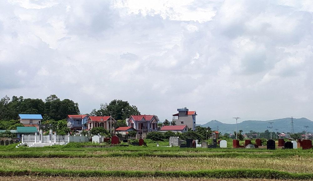 Xã Thái Đào (Lạng Giang): Nghĩa trang gây ô nhiễm môi trường